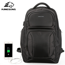 Kingsons Backpack Men Women 15.6 Inches Laptop Anti Theft Bagpack USB Charging Casual Travel Business School Teenager Office Bag kingsons 2018 new backpack upgraded solar backpack fast usb charging kanpsack 15 6 inches laptop backpacks male women travel bag