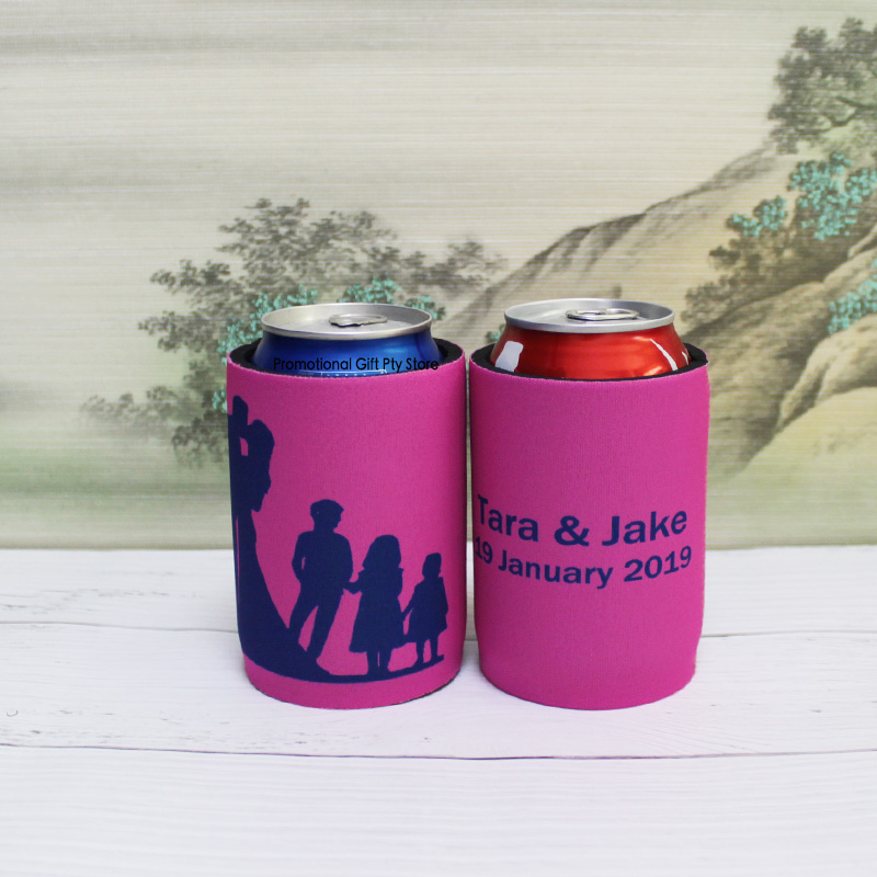 130pcs lot Promotional Waterproof Neoprene Stubby Holder Customized Design Can Sleeve Wedding Gift Customize Picnic Cooler