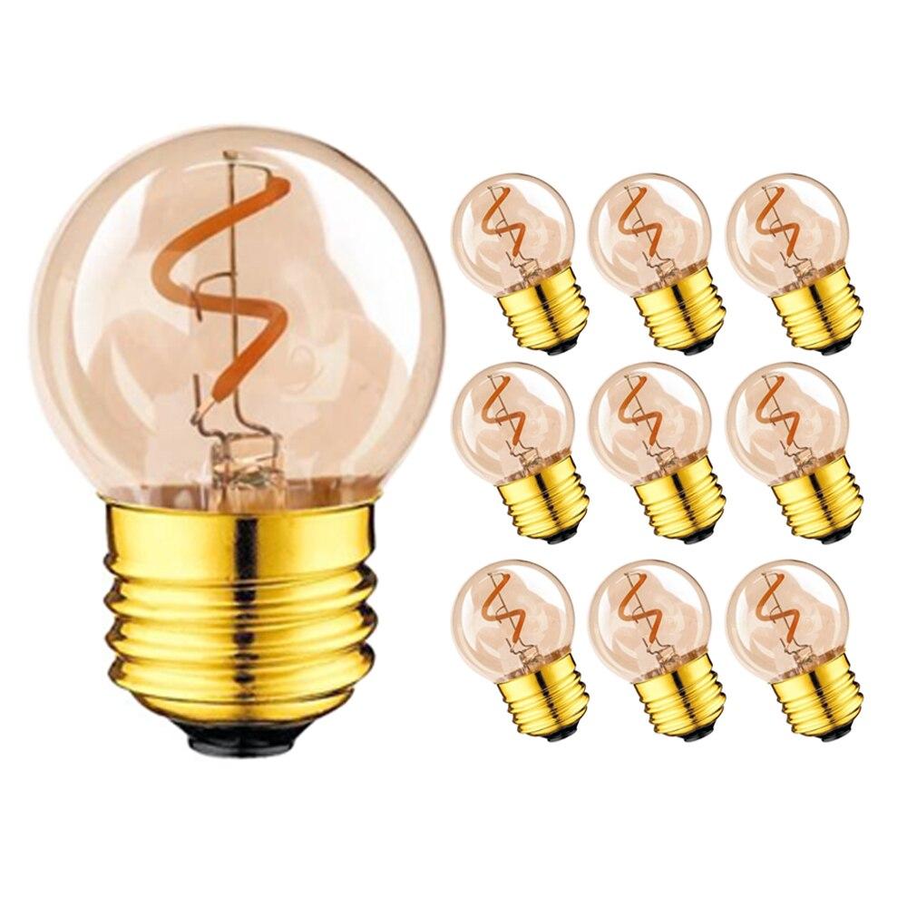 Mini lámpara de Globo de Oro G40 1 W 2200 K Edison Vintage LED espiral filamento bombilla E27 220 V E26 cadena de iluminación LED regulable de 110 V Matamoscas eléctrico multifunción LED, matamoscas, matamosquitos, matamoscas, matamosquitos, sin batería
