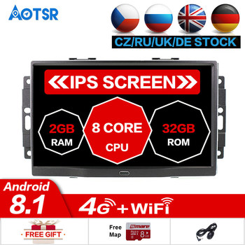 Android 8.1 8 core Car Stereo GPS Navigation Radio For Jeep Grand Cherokee Patriot Dodge Charger Chrysler 300C DVD Player 32GB