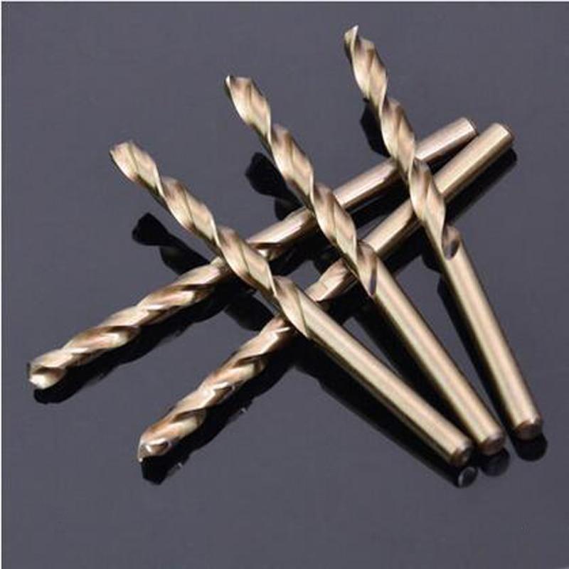 10 piezas / lote Aleaciones de acero de cobalto de 2 mm Broca helicoidal Broca de acero de cobalto Broca de metal de estaño Taladro de metal