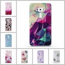 Colorful Flower Pattern Case for Asus Zenfone 3 ZE520K 5.2 inch Phone Back Cover for Asus Zenfone 3 ZE520KL Cases Capa Fundas