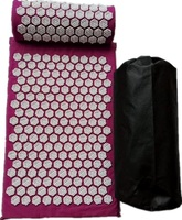 Lotus Spike Acupressure Mat Pillow Acupuncture Cushion Shakti Yoga Mat Massage Relaxation With Carrybag