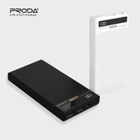 PRODA 10000mAh Power Bank LCD Display Double USB 2.1A Fast Charging Batterie Externe 10000 MAh Powebank For Iphone X XR Xiaomi