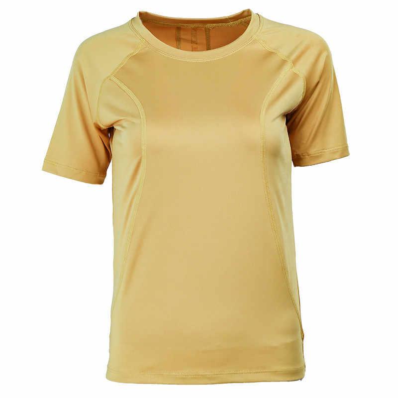 List Yoga Tops oddychające sportowe topy Slim kobiet krótki rękaw koszulka do jogi siłownia szkolenia sportowe T Shirt Running Fitness topy