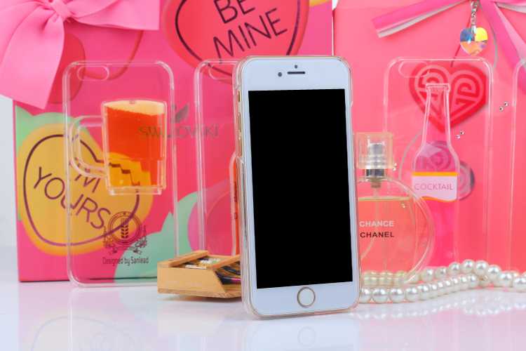 809daf7f7 iphone 7 case red Wine Cup Liquid Transparent Case For Apple iPhone 7 7  plus 6 6S plus 5 5S 8 4 4S Phone Cases Back Covers