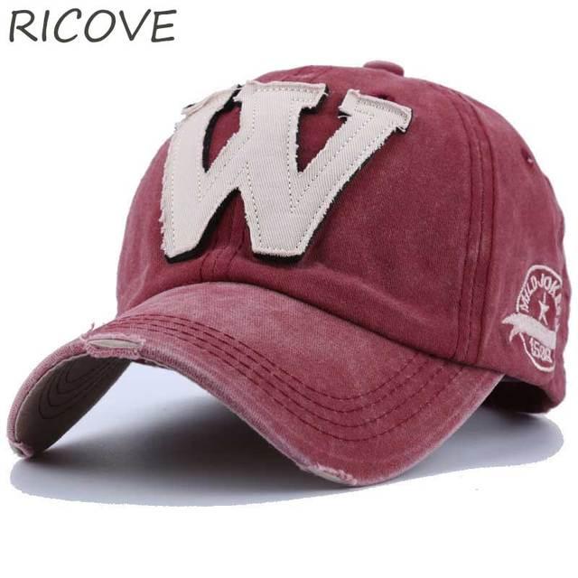 Gorra Snapback camionero hombres papá sombrero Vintage bordado letra W gorra  de béisbol ajustada Hip Hop 10414d15534