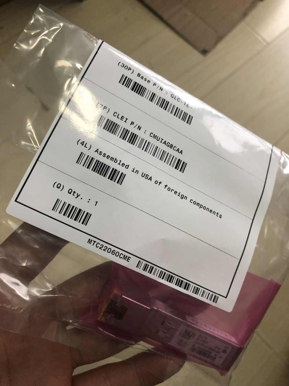 GLC-TE 1000BASE-T SFP トランシーバモジュール新 (密閉) 卸売!