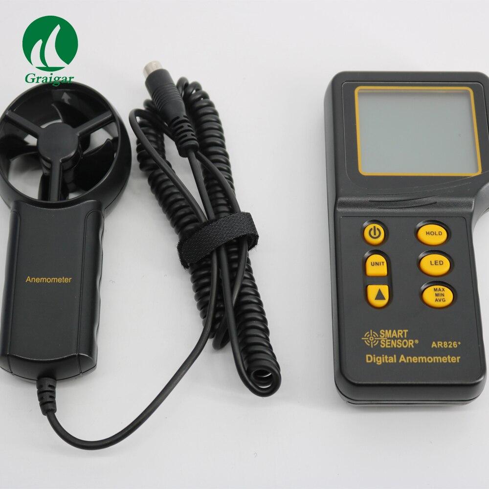 Smart Сенсор AR826 + Анемометр цифровой ветер Скорость метр Бесплатная доставка
