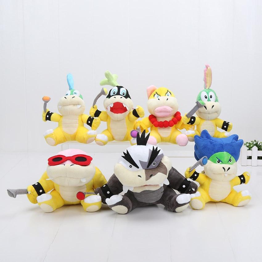 цена Super Mario Bros Koopa Koopaling Plush Toys Dolls Bowser Wendy / LARRY / IGGY /Ludwig /Roy / Morton /Lemmy O.Koopa Kid Toys онлайн в 2017 году