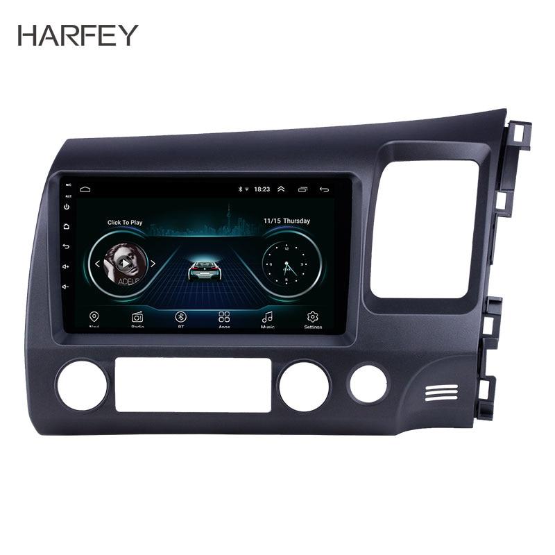 Harfey for Honda Civic RHD 2006-2011 9 Android 8.1 HD Touchscreen Bluetooth GPS Radio USB AUX support Carplay 3G WIFI MirrorHarfey for Honda Civic RHD 2006-2011 9 Android 8.1 HD Touchscreen Bluetooth GPS Radio USB AUX support Carplay 3G WIFI Mirror