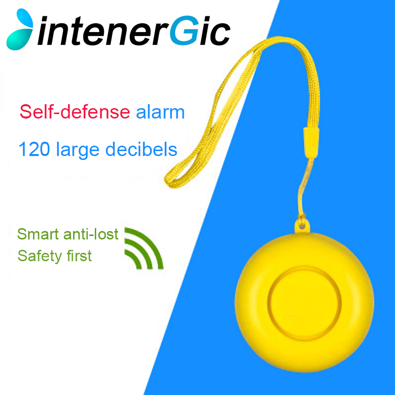 INTENERGIC Self Defense Personal Safety Alarm Keychain Emergency Panic Alarm Security Alarm Keychain for Women Children Kids ...