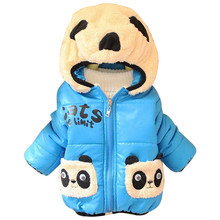 CHCDMP Baby Girls Boys Jacket Winter Warm Thick Cotton Cartoon Panda hooded Kids Coat Children Lovely Outerwear kids Clothing