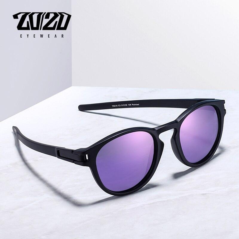 20/20 Marke Neue Sonnenbrille Männer Unisex Tr90 Polarisierte Lila Objektiv Vintage Brillen Zubehör Sonne Gläser Für Frauen 519