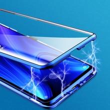 Boîtier dadsorption magnétique 360 pour Xiaomi Redmi note 7 couvercle complet en verre trempé pour étui Redmi K20 Pro transparent antichoc