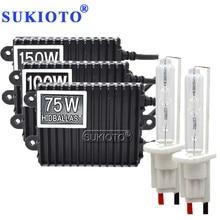 SUKIOTO 12 v 75 watt 100 W 150 watt ballast HID xenon kit H1 H3 H4 H8 H11 D2S D2H hid xenon kit high power metall H7 xenon hid ballast kit