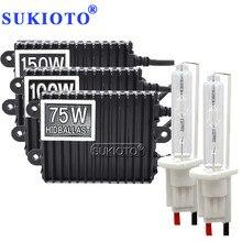 SUKIOTO 12V 75W 100W 150W ballast HID xenon kit H1 H3 H4 H8 H11 D2S D2H hid xenon kit high power metal H7 xenon hid ballast kit