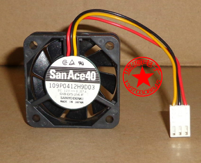 FOR SANYO DENKI SAN ACE 4CM 4010 12V 0.07A 109P0412H9D03 Double ball bearing silence cooling fan