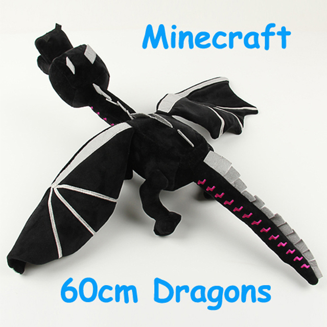 60cm Minecraft Enderdragon Plush Black Ender Dragon Stuffed Toys Soft Toy Game Cartoon