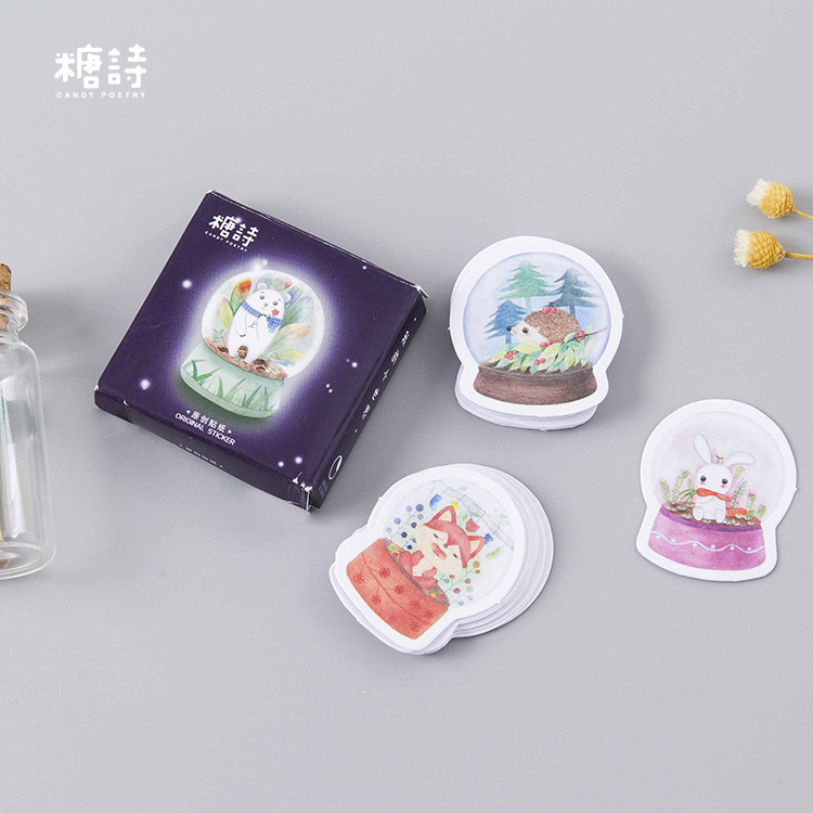 45PCS/box Creative My Little World Album Paper Lable Stickers Crafts And Scrapbooking Decorative Lifelog Sticker Cute Stationery