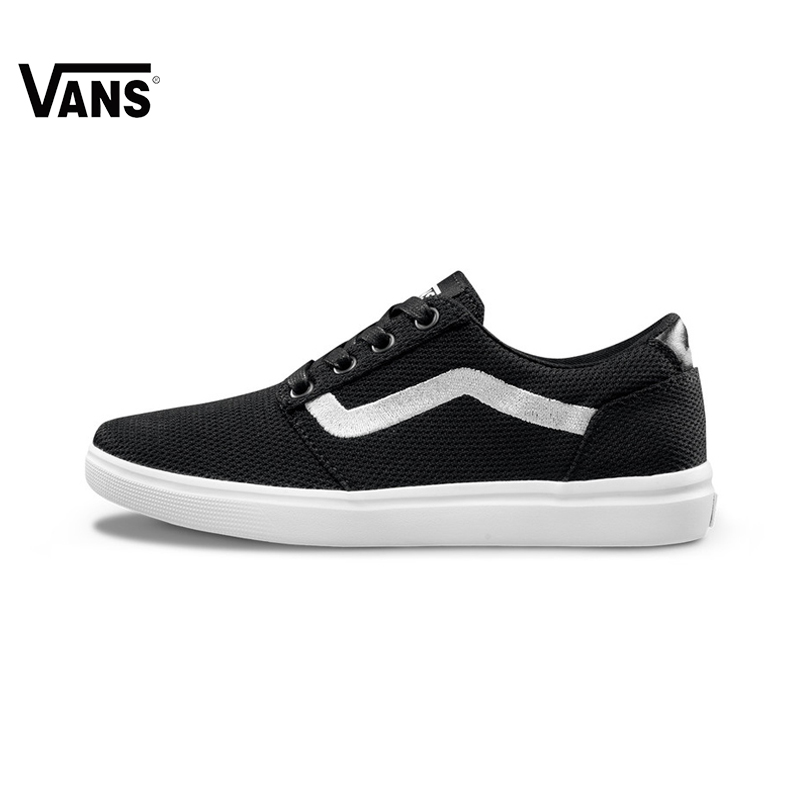 все цены на Original Vans Old Skool low-top CLASSICS Women Skateboarding Shoes Sports canvas Shoes Sneakers free shipping