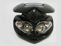 Black Motorcycle Head Light Dual Sport for Ducati Street Fighter Dirtbike Custom KTM F4i ZX6R NINJA CBR Buell XR CRF DRZ KLX