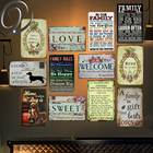 Home Dog Welcome to my Home Vintage Home Decor 20*30 Retro metal Tin Signs Poster Shabby Chic signs for Bar Home Cafe