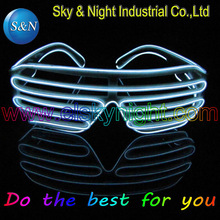 white EL Wire Glowing Flash Shutter LED Glasses Battery Box for DJ/Party/Christmas Holiday Fashion tools cool glasses