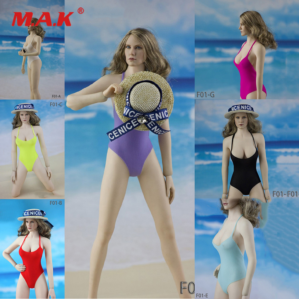 1/6 Womens Swiming Suit Female Sheer Bodysuit Swimwear Swimsuit + Beach Hat Clothes for 12 PH Big Breast Action Figure1/6 Womens Swiming Suit Female Sheer Bodysuit Swimwear Swimsuit + Beach Hat Clothes for 12 PH Big Breast Action Figure