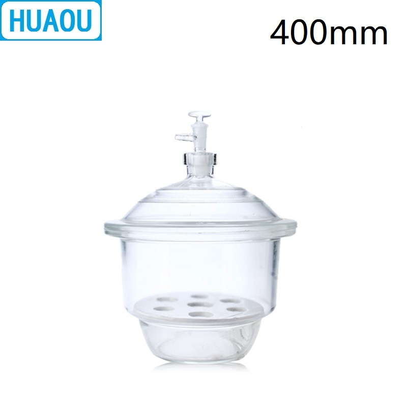 HUAOU 400mm Vacuum Desiccator with Ground - In Stopcock Porcelain Plate Clear Glass Laboratory Drying EquipmentHUAOU 400mm Vacuum Desiccator with Ground - In Stopcock Porcelain Plate Clear Glass Laboratory Drying Equipment