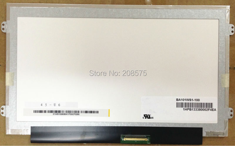 Free shipping BA101WS1-100 BA101WS1 B101AW06 V.1 N101L6-L0D LTN101NT08 10.1inch LED Display Laptop Screen new original auo laptop lcd led screen b101aw06 v 1 n101l6 l0d
