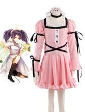 Envío Libre El Diario de Futuro Uryuu Minene Pink Lolita Vestido de Cosplay del Anime
