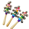 percussion toys kindergarten early learning aids toy musical instrument 10 bell bell green rainbow stick