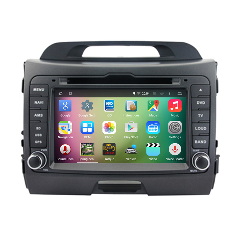 8″ Android 5.1.1 Quad Core Car Radio DVD GPS Navigation Central Multimedia for Kia Sportage 2010 2011 2012 2013 3G WIFI DVR