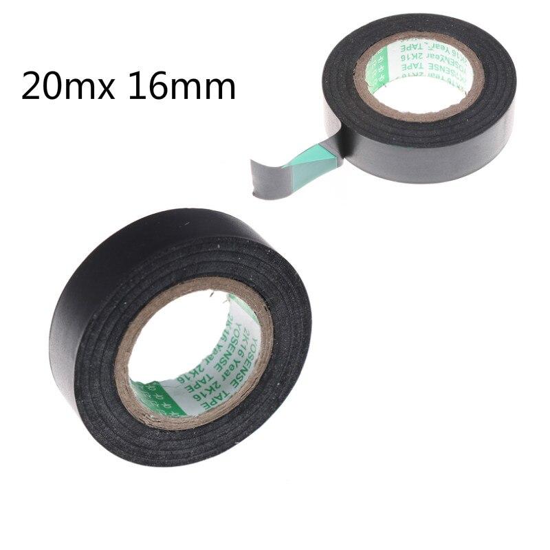 Black PVC Flame Retardant Adhesive Vinyl Electrical Insulation Insulating Tape