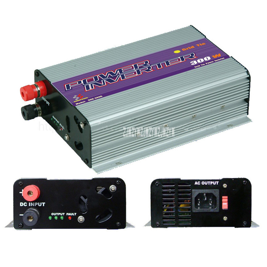 New Hot 300W Solar Grid Inverter MPPT High Efficiency Inverter With LCD Display ,10.8~30V/22~60V/ 90V~130V/190V~260V 46Hz~65Hz solar power on grid tie mini 300w inverter with mppt funciton dc 10 8 30v input to ac output no extra shipping fee