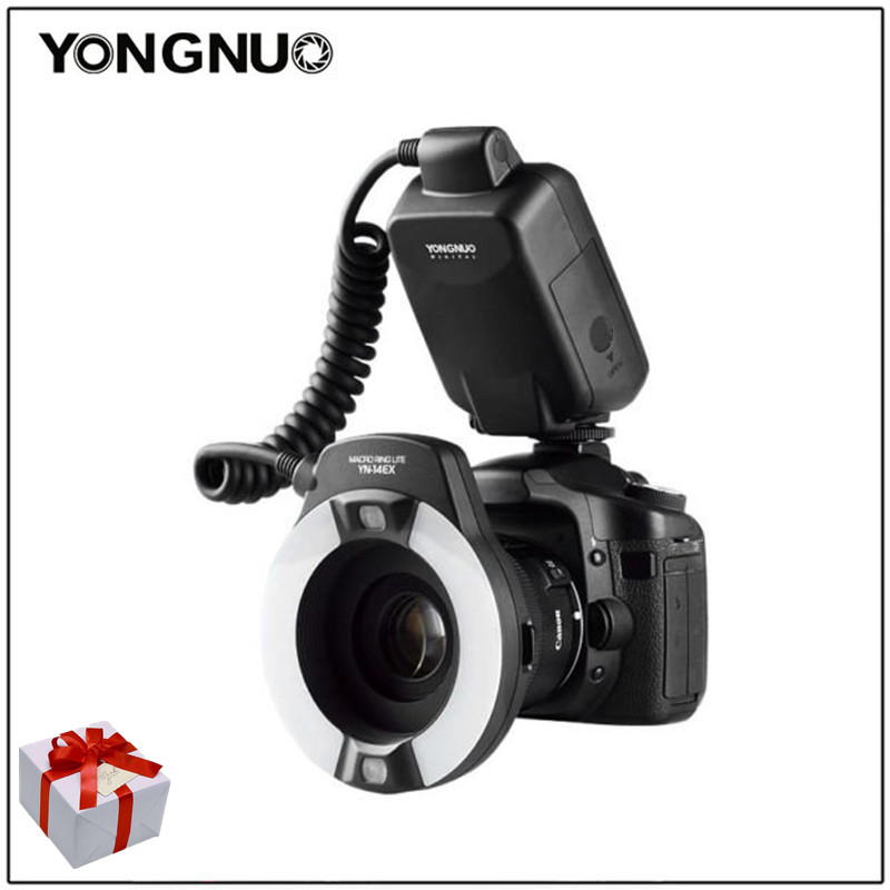 YongNuo YN-14EX TTL Macro Flash Ring LED Light YN14EX for Canon camera 5D Mark II 5D Mark III 6D 7D 60D 70D 700D 650D 600D yongnuo yn 14ex ttl macro ring flash light work with adapter for canon 7d 6d 5diii 70d 700d