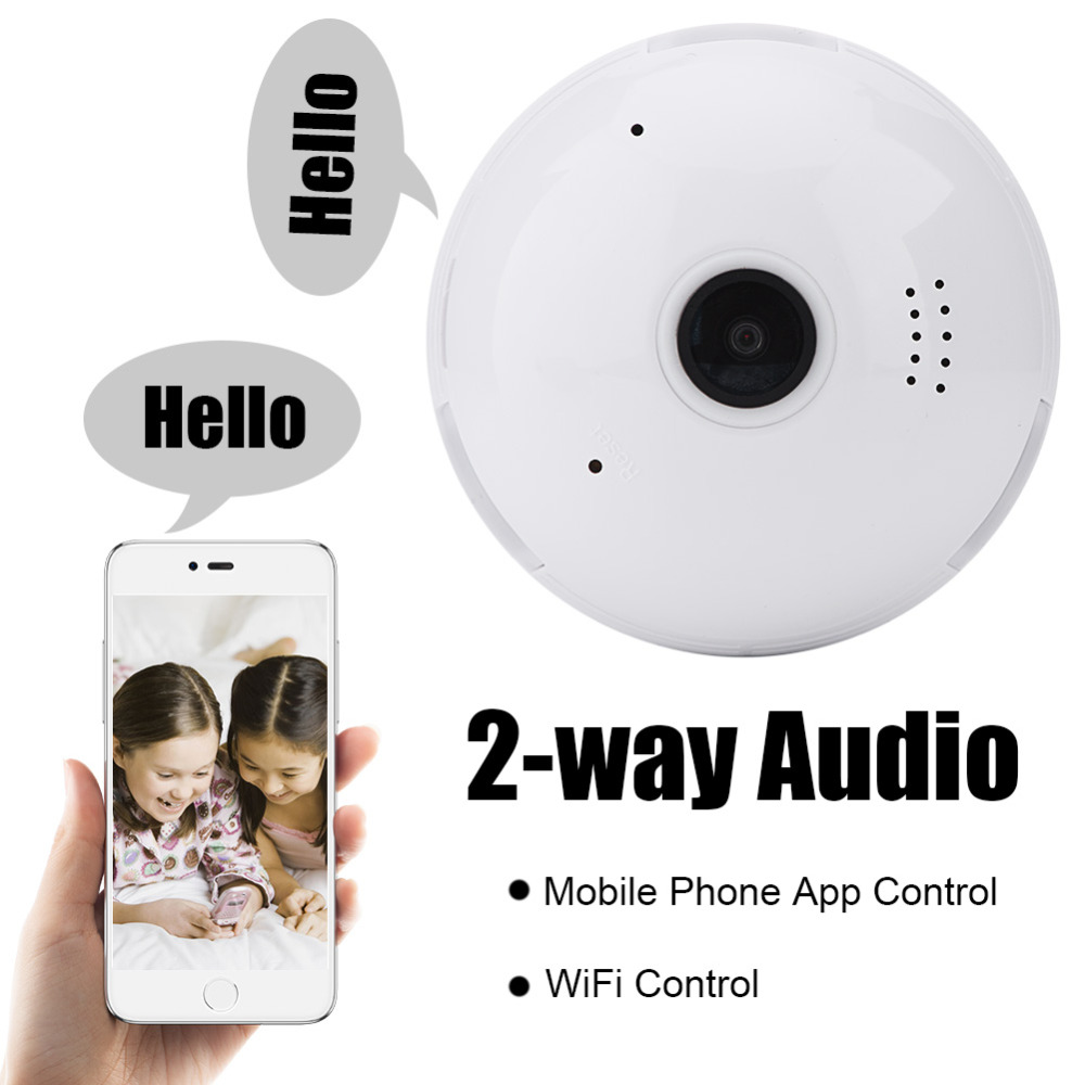 цены 960P 360 Degree Bulb Light Wireless IP Camera FishEye Smart Home CCTV 3D VR Camera 1.3MP Home Security WiFi Camera Panoramic Rat