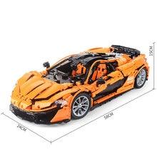 DHL educativos 20087 técnica juguetes del MOC-16915 naranja Super coche de carreras juego de bloques de construcción ladrillos montado DIY regalos de navidad