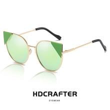 d800da5ae19ef Dama Da Moda Polarizadas Óculos De Sol Das Mulheres de DESIGN DA MARCA  Original Quadro Do Gato Olho Óculos de Sol Gafas UV400 20.