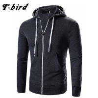 T Bird Hoodies Men Cardigan Sweatshirts Solid Color Fashion Brand Men S Hoodie Autumn Winter Pullover
