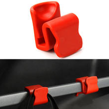 BBQ@FUKA 4 Pcs Cargo Red Trunk Tail Rear Hook Hanger Holder Organizer Fit For Jeep Cherokee 2014 2015(China)