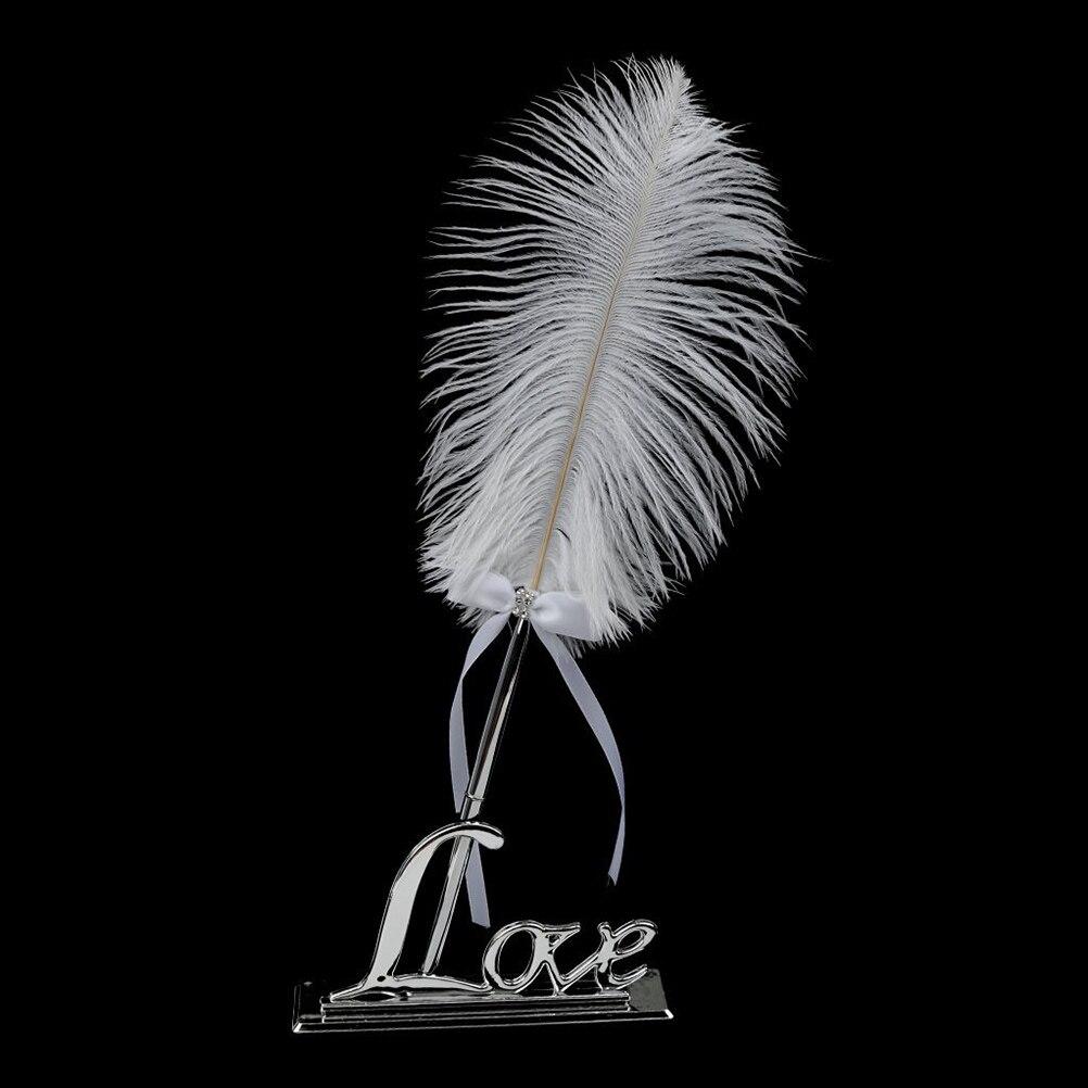 Stylo de signature en plume blanche avec ensemble de stylos de - Pour les vacances et les fêtes - Photo 2