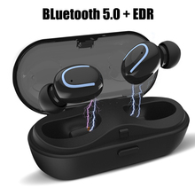 Wireless Headphones Bluetooth Earphone Bluetooth 5.0 Mini True Stereo In ear Earbuds With HD Mic For Samsung Xiaomi iPhone wishello true wireless earphones bluetooth wireless 4 2 stereo in ear with mic portable charging box for iphone samsung xiaomi