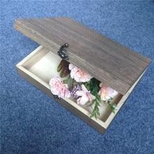 Big Size Classic Solid Wooden Box Tableware Storage Box High-Grade Tea Packing Box Moistureproof Good Mildew Resistance26*20*6cm