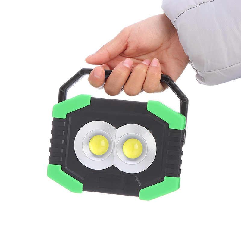 2 x COB Super Bright LED Work Light, 20W, 1000 Lumens, Portable, for BBQ, Camping, Fishing