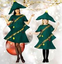 נשים של קצר שרוול קוספליי למבוגרים חידוש שמלת Elf תלבושות מפלגה עם כובע פנסי ילדים ההופעה עץ חג המולד תלבושת