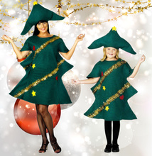Womens Short Sleeve Cosplay Adult Novelty Dress Elf Costume Party With Hat Fancy Kids Perfomance Christmas Tree Outfit