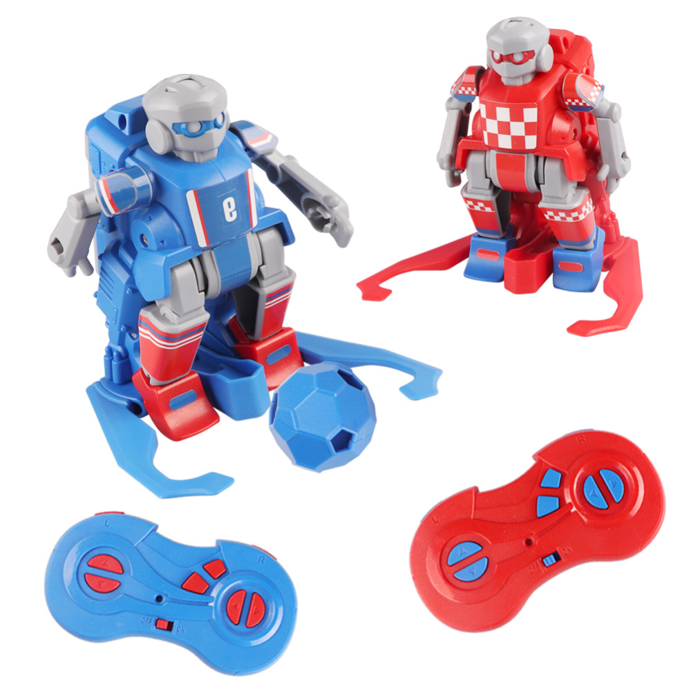 DA XIN Smart RC Robot Cartoon Play Soccer Robot Remote Control Toys Electric Football Robot Indoor Toys with goals