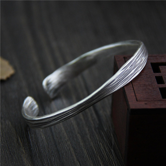 Aliexpress com : Buy C&R Real 999 Sterling Silver bangle bracelet for women  personality opening Thai Silver bangles handmade Fine Jewelry from